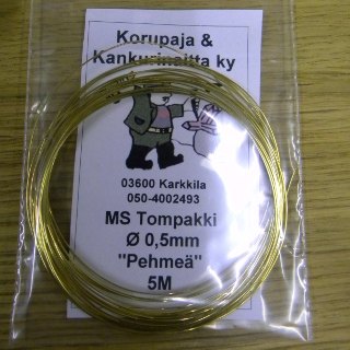 Messinkilanka (tompakki) PEHMEÄ 0,5mm
